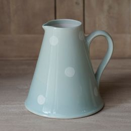Blue / White Spot Medium Pitcher