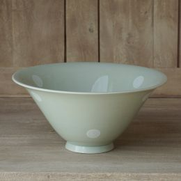 Blue / White Spot Small Salad Bowl