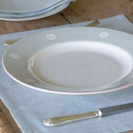 Blue / White Spot Dinner Plate - 29 cm
