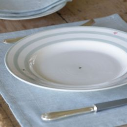 Honey Bee Stripes Dinner Plate - 29 cm