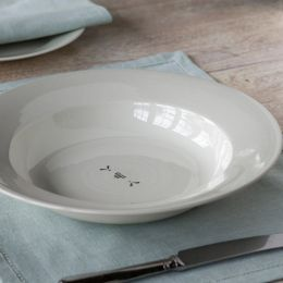 Charcoal Gustavian Heart Pasta Bowl