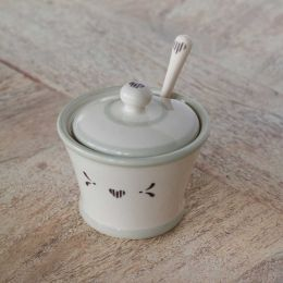 Charcoal Gustavian Salt Pot