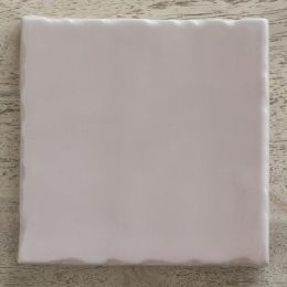 hand made and hand painted pink tile