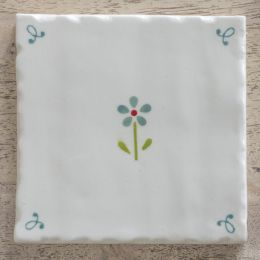 Flowerbed Blue Tile