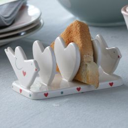 Love Bird & Heart Toast Rack