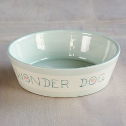 Personalised Dog's Dinner Bowl – Blue