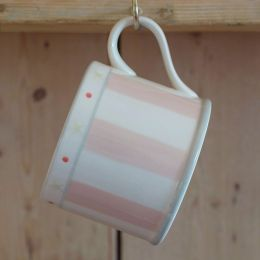 Pink Stripe Straight Mug