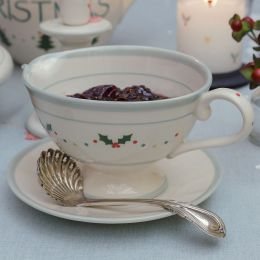 Christmas Holly Sauce Boat and Saucer
