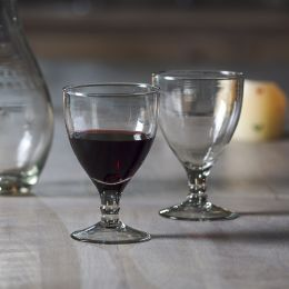 Handblown Red Wine Glass
