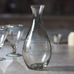 Glass Water Carafe - Engraved