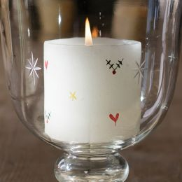 Christmas Pillar Candle - 3""