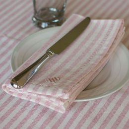 Rose Ivory Stripe Napkin (Set of 4)