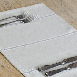 Charcoal Gustavian Stripe Placemats (set of 4)