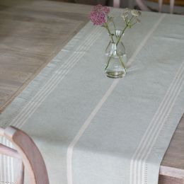Duck Egg Oxford Stripe Table Runner