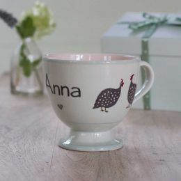 Personalised Guinea Fowl Large Mug