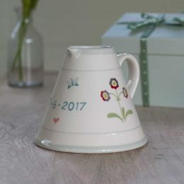 Personalised Dark Red Auricula Baby Pitcher