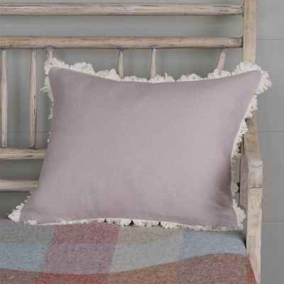 Dusky Pink Plain Linen Cushion