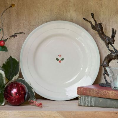 Seconds Christmas Holly Side Plate