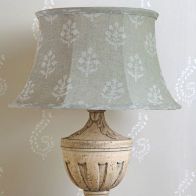 "Grey Megha 16"" Framed Lampshade"