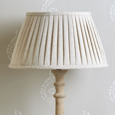 "Natural Linen 14"" Pleated Lampshade"