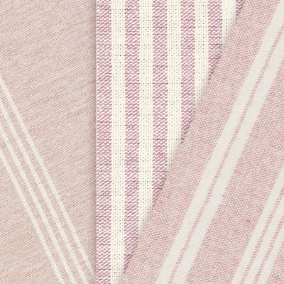 Rose/Pink Thick Weave Cotton Short Cuts