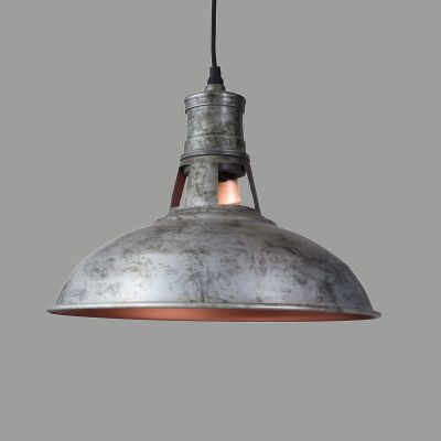 Galvanised Metal Pendant Lamp