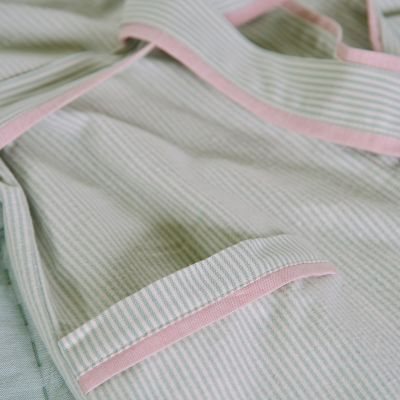 Duck Egg Stripe Bath Robe