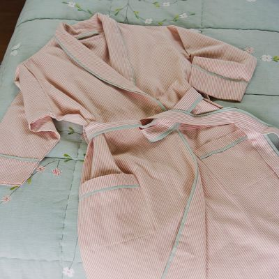 Pink Stripe Bath Robe