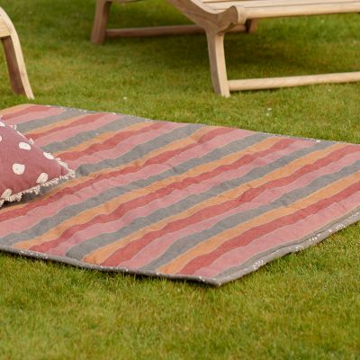 Indian Summer Stripe Picnic Mat