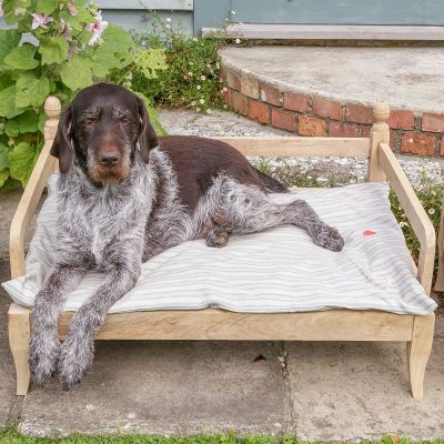 Dog Bed in Sail Blue stripe