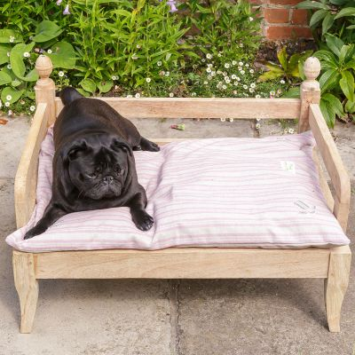 Violet Stripe Dog Bed Mattress