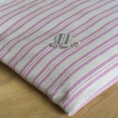 Dog Bed Mattress Cover Only - Violet Stripe