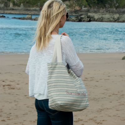 Sail Blue Stripe Tote Bag