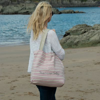 Violet Stripe Tote Bag