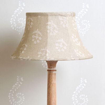 "Grey Megha 12"" Framed linen Lampshade"
