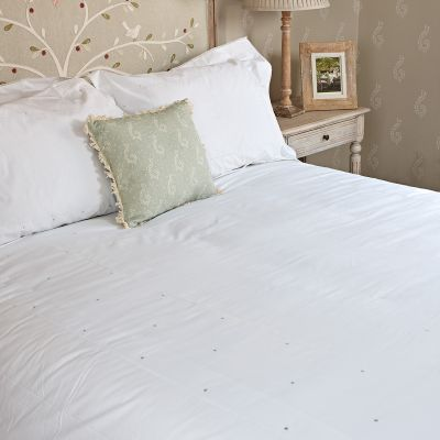 Duvet Cover Duck Egg Spot – Double