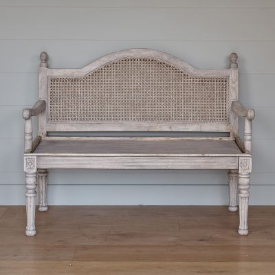 Caned Wood Sofa