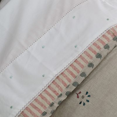 Duck Egg Spot Flat Sheet