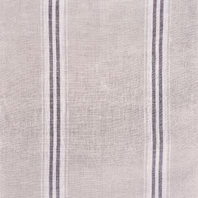Charcoal Large Gustavian Stripe Linen - 294