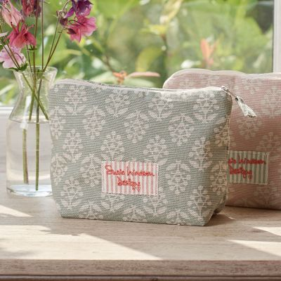 Duck Egg Sprig Makeup Bag