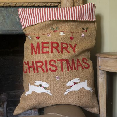 White Hare Christmas Sack