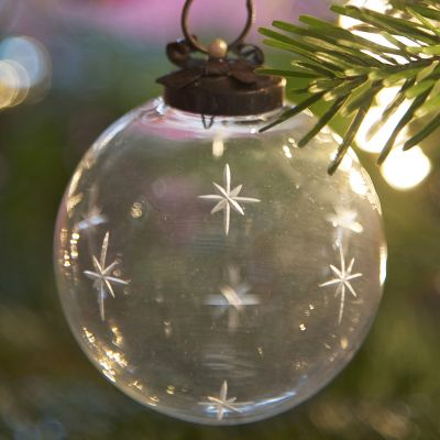 Bauble - Large Star with Bow