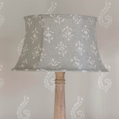 Smokey Blue Moonflower Framed Lampshade