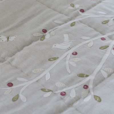 Grey Olive Tree Cotton Quilt