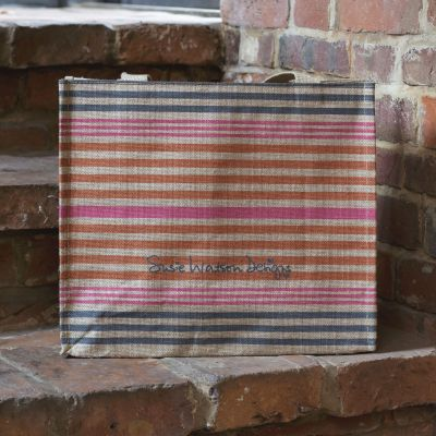 Summer Stripe Jute Bag