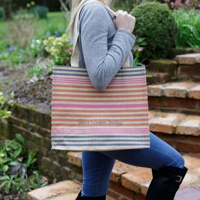 Jute Bag Summer Stripe