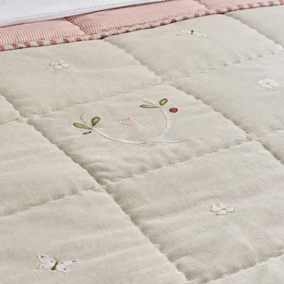 Grey Gustavian Cotton Quilt
