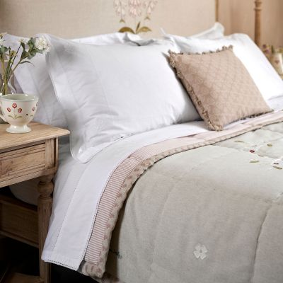 Grey Olive Tree Cotton Quilt - Super King