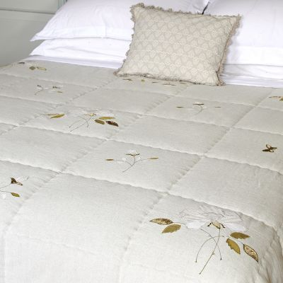Grey Rose Cotton Quilt - Kingsize