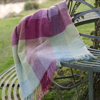 Heather Mix Harlequin Shetland Wool Throw
